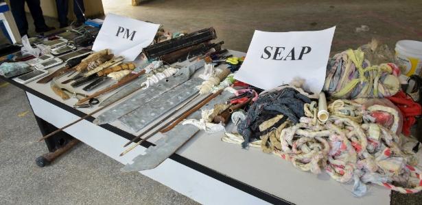 Material apreendido em revistas nas unidades prisionais de Manaus este sábado