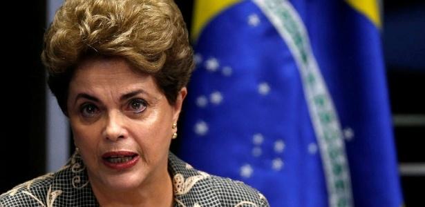 A presidente afastada, Dilma Rousseff, faz sua defesa no plenário do Senado