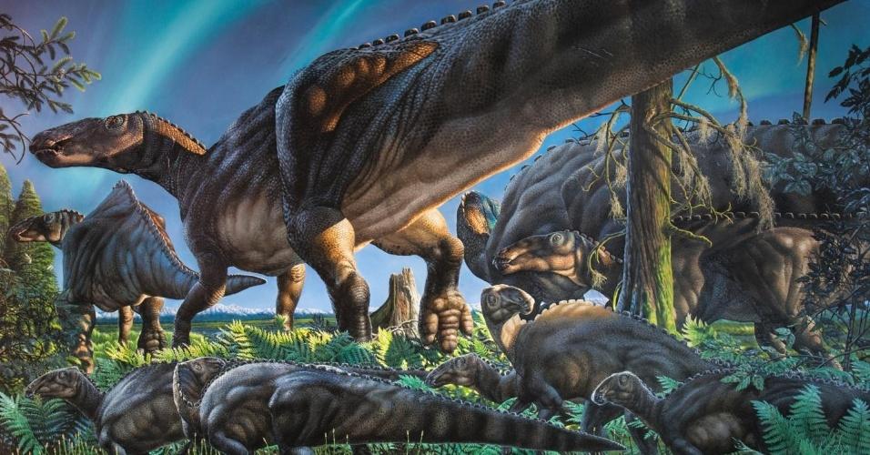 NOVA ESPÉCIE - Cientistas do Museu Universidade do Alasca do Norte descobriram uma nova espécie de dinossauro, a