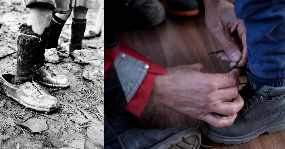 Resultado de imagem para ajudando a amarrar os sapatos do pai