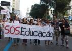 Estudantes e professores fazem protesto no Rio de Janeiro - Paulo Campos/Estadão Conteúdo