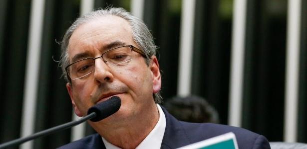 O presidente da Câmara dos Deputados, Eduardo Cunha (PMDB-RJ), durante sessão que aprovou a PEC da redução da maioridade penal