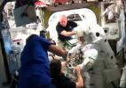 Nasa suspende caminhada espacial por possível vazamento em capacete de astronauta - HANDOUT
