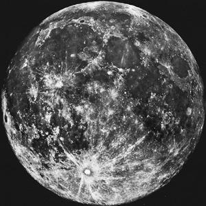 Nesta foto de setembro de 2006, é possível ter uma visão telescópica de quase toda a Lua