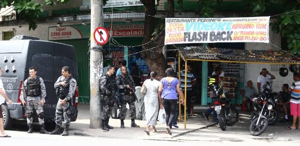 A Polícia fez uma operação no sábado para deter suspeitos do crime em morro do Rio
