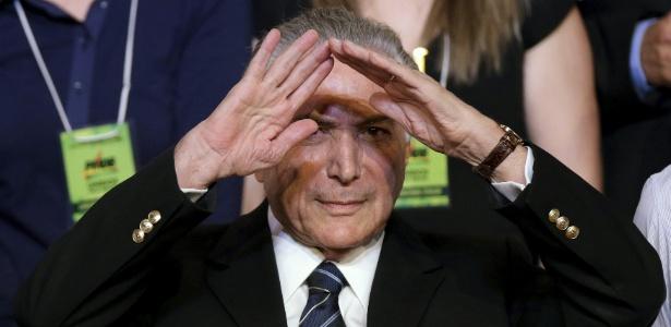 O vice-presidente Michel Temer, líder do PMDB