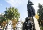 Cidade na Ucrânia substitui Lênin por Darth Vader em estátua (Foto: Volodymyr Shuvayev/AFP)