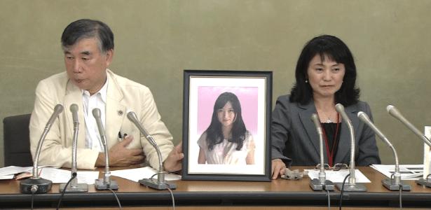 Antes de se suicidar, Matsuri Takahashi (retrato) disse que estava exausta pelo trabalho