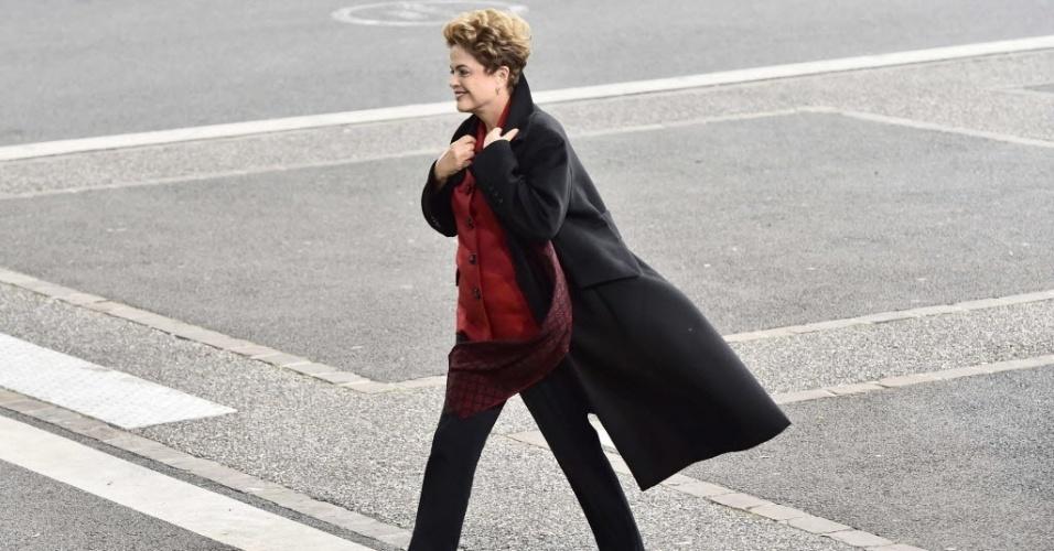 30.nov.2015 - Dilma Rousseff participa da COP-21, em Paris