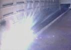 Câmera registra 'bola de fogo' em linha do metrô de Washington (Foto: BBC)