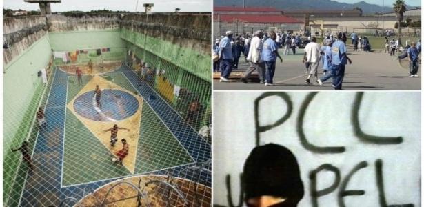 Presídio em Manaus (à esq.), cadeia nos EUA e integrante do PCC envolvido em sequestro em 2006: gangues se tornaram 'governo paralelo' em presídios, diz professor