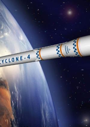 Imagem mostra como seria o foguete Cyclone 4, que já estava praticamente pronto