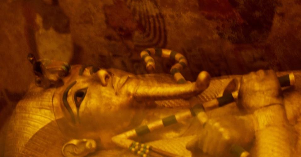 1.abr.2016 - Tumba de Tutancâmon, no Egito