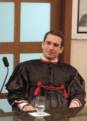 O promotor Eduardo Rocha durante a sua posse no Ministério Público do Piauí