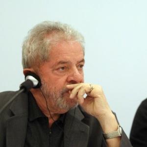 O ex-presidente Luiz Inácio Lula da Silva durante conferência em maio