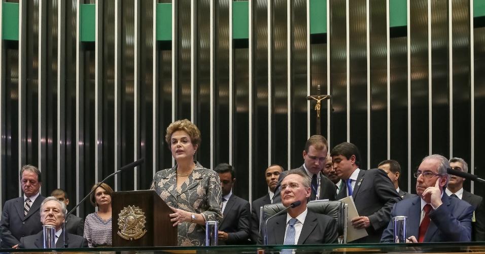 2.fev.2016 - A presidente Dilma Rousseff foi vaiada ao afirmar que