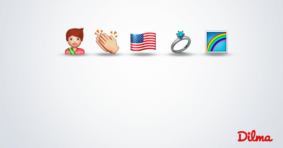26.jun.2015 - O perfil da presidente Dilma Rousseff no Facebook publicou nesta sexta-feira (26) uma imagem comemorando a legalização do casamento entre pessoas do mesmo sexo nos Estados Unidos