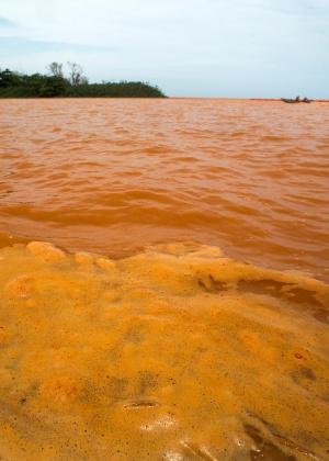Lama da barragem de Fundão contaminou a água do rio Doce
