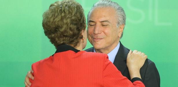 A presidente Dilma Rousseff e o vice, Michel Temer, participaram de evento em março