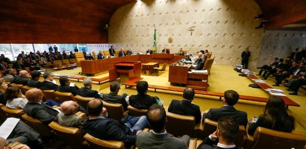 Sessão plenária do STF do julgamento sobre a inconstitucionalidade de doações de empresas a campanhas