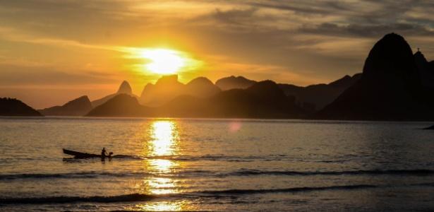 Pôr-do-sol no Rio de Janeiro