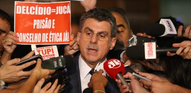 O ministro do Planejamento, Romero Jucá, anunciou seu afastamento do cargo
