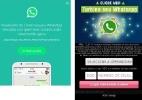 Falso visualizador de conversa do WhatsApp tem mais de 1 milhão de cliques - Reprodução