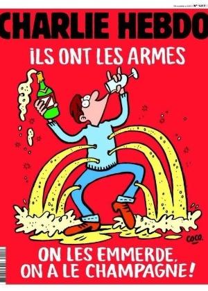 """Capa da edição que vai às bancas nesta quarta-feira (18) do semanário satírico francês """"Charlie Hebdo"""""""