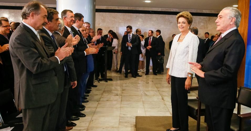 2.out.2015 - A presidente Dilma Rousseff durante anúncio da reforma administrativa do governo federal. Além de confirmar o corte de oito pastas, a presidente anunciou a redução de 10% no salário dos ministros, entre outras medidas de redução de gastos