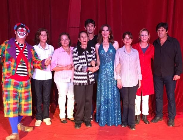Os Zanchettini: Amaury (caracterizado com o palhaço Pequi), Edlamar, Áurea, Wanda (a matriarca), Sílvio, Erimeide, Solange, Márcia e Márcio