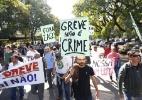 USP: protestos de alunos, funcionários e professores - Paulo Ermantino/Raw Image/Estadão Conteúdo