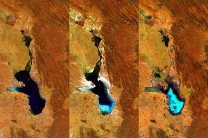 Segundo maior lago da Bolívia desaparece após ser totalmente evaporado (Foto: EFE)