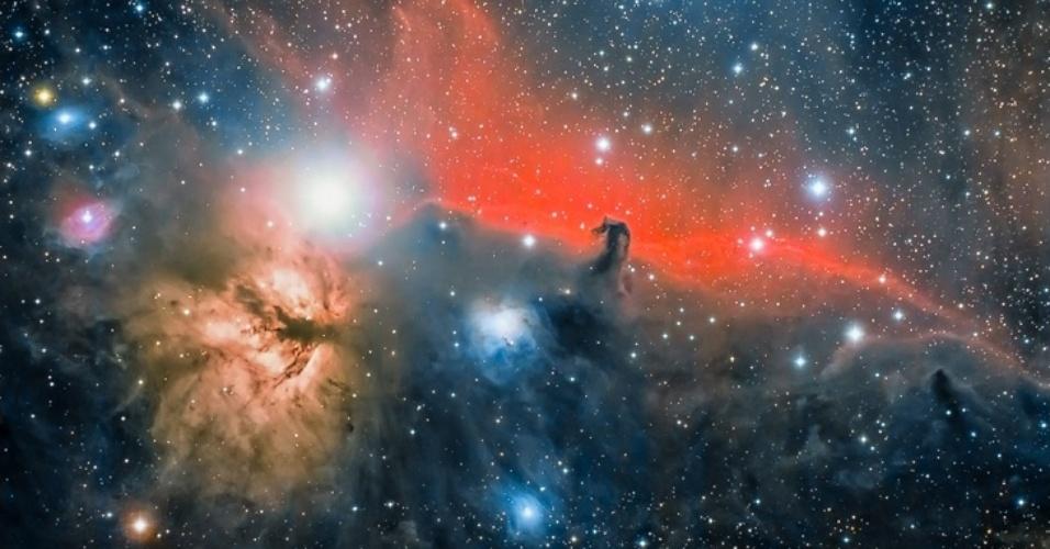 1°.abr.2016 - A imagem da Nebulosa Cabeça de Cavalo foi enviada por José Jiménez Priego de La Jonquera, Espanha