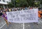 Estudantes e funcionários da USP fazem protesto em frente à reitoria - Newton Menezes/Futura Press/Estadão Conteúdo