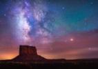 Em fotos, uma cachoeira iluminada por aurora boreal e outras maravilhas da astronomia - Albert Dros/ BBC