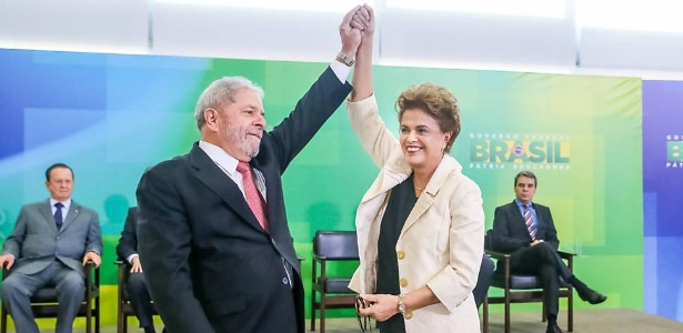 Lula na cerimônia de posse como ministro da Casa Civil, suspensa meia hora depois