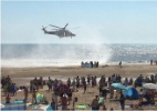 Mistério de 5 corpos encontrados em praia no dia mais quente do ano intriga britânicos (Foto: @Tashka4)