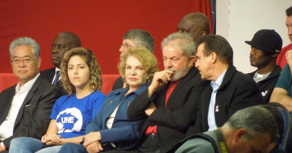1°.set.2015 - Ex-presidente Lula, ao lado de sua mulher Marisa, participa de lançamento do Memorial da Democracia