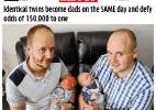 Conheça dois pares de gêmeos que tiveram filhos no mesmo dia (Foto: Reprodução/Mirror)