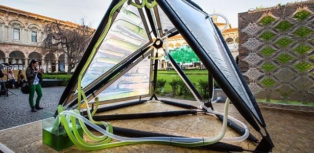 Urban Algae Canopy, desenvolvido pelo ecoLogicStudio, em exposição na Expo Milão 2015