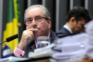 O presidente da Câmara, Eduardo Cunha, durante sessão na última terça (1º de março)