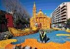 Festival francês recria cenas do cinema em esculturas de limões e laranjas (Foto: Eric Gaillard/Reuters)