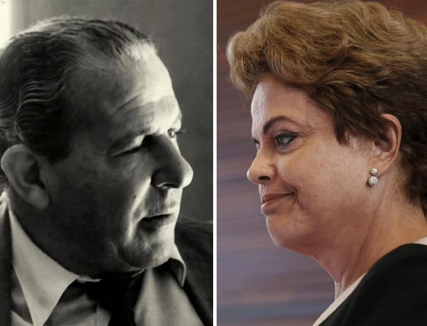 João Goulart (à esq.), presidente de 1961 a 1964 e Dilma Rouseff, presidente desde 2011