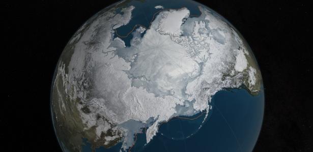 A área de gelo do Ártico atingiu sua pior marca da história durante o inverno: 14,52 milhões de quilômetros quadrados, a menor ponto máximo desde quando os satélites passaram a monitorar as geleiras do norte do globo