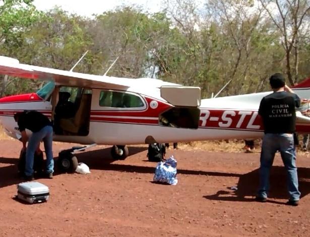 A aeronave apreendida com R$ 50 mil pertence ao sogro de Adailton Alves Guimarães Duarte, candidato a prefeito de Lagoa do Mato (MA)