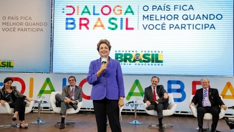 28.jul.2015 - Presidente Dilma Rousseff realiza o lançamento do site