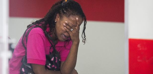 Cintia Francelino, mãe do menor de 10 anos morto pela PM na noite de quinta