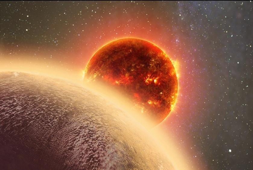 NOVO VIZINHO ? Cientistas descobriram um exoplaneta rochoso, chamado GJ 1132b, orbitando uma pequena estrela a apenas 39 anos-luz de distância da Terra, e com tamanho semelhante ao do nosso planeta. Exoplaneta é o nome dado para os planetas que orbitam uma estrela que não seja o Sol, pertencendo então a um sistema planetário distinto do nosso. O GJ 1132b é o exoplaneta mais próximo e mais parecido com a Terra já encontrado. Ele está três vezes mais perto do nosso planeta do que qualquer outro exoplaneta e é 16% maior do que a Terra. Embora seja muito quente para ter vida, cerca de 260°C, o GJ 1132b empolga cientistas por permitir pela primeira vez estudos mais detalhados sobre tais planetas. Pelas altas temperaturas, os pesquisadores já especulam que as características dele sejam mais parecidas com as de Vênus do que com as da Terra