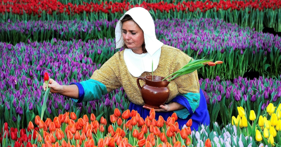 Mulheres SÃo Como Flores: Evento Marca Início Da época Das Tulipas Na Holanda