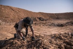 Estado Islâmico deixa legado de valas comuns no Iraque (Foto: Sergey Ponomarev/The New York Times)